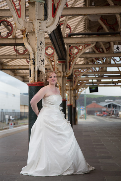 trash the dress aberystwyth train station