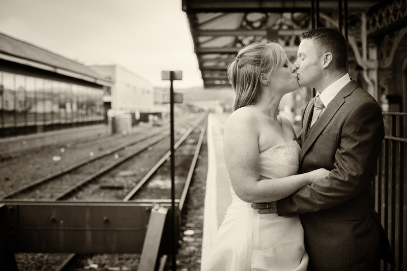 trash the dress aberystwyth railway station