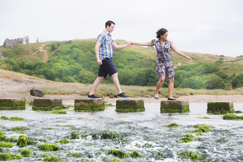 Engagement shoot on the Gower by Whole Picture Weddings