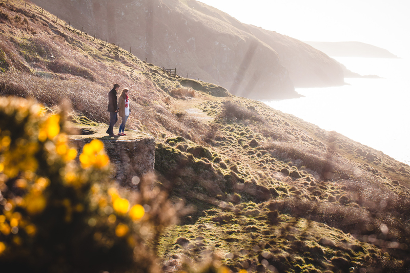 Pre-wedding photoshoot at Mwnt Church by Whole Picture Weddings