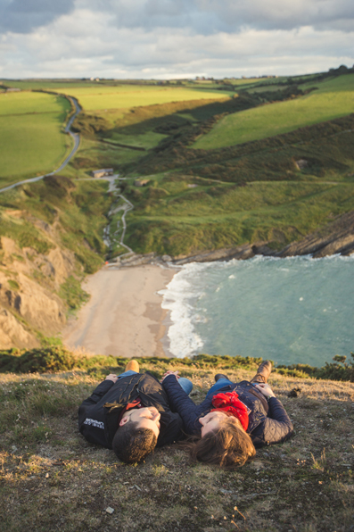 Pre-wedding shoot at Mwnt Church by Whole Picture Weddings
