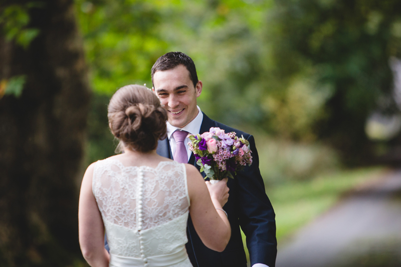Intimate wedding with First Look at Hammet House by Whole Picture Weddings