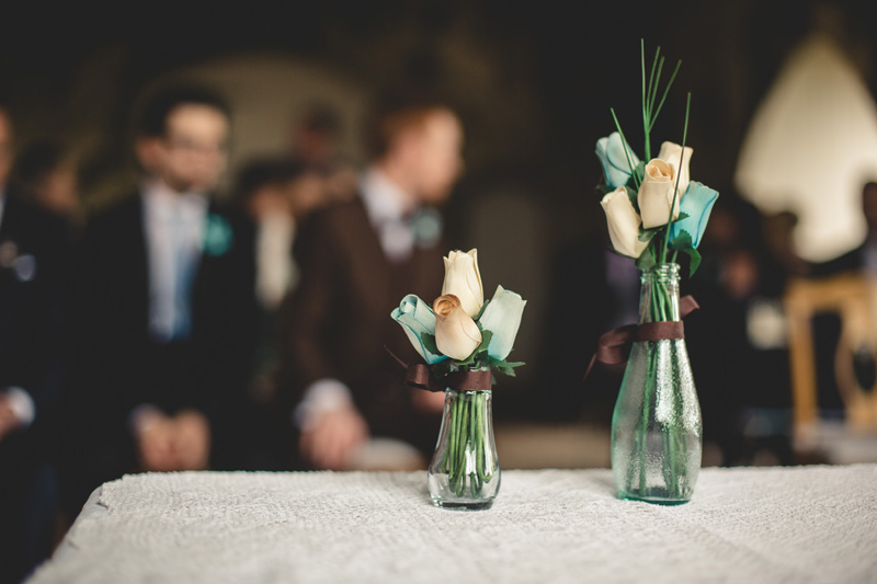 Wedding with DIY fabric flowers at Manorbier Castle by Whole Picture Weddings