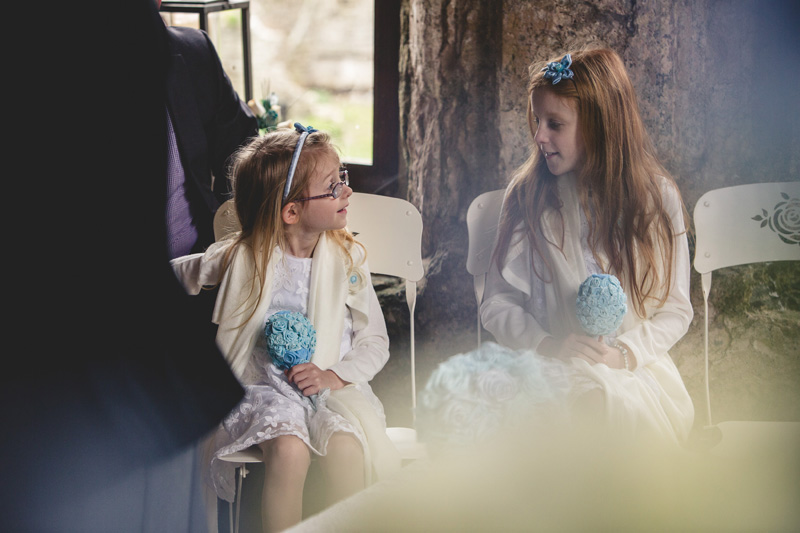 Wedding with DIY fabric bouquets at Manorbier Castle by Whole Picture Weddings