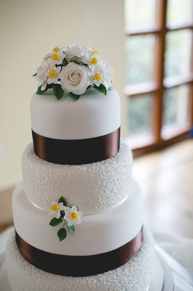 Classic wedding cake | Spring wedding at Rhosygilwen by Whole Picture Weddings