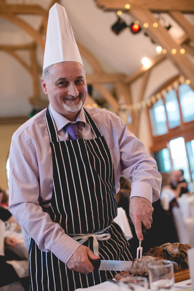 Pick a Chef for each table and let them carve the meat! |Spring wedding at Rhosygilwen by Whole Picture Weddings