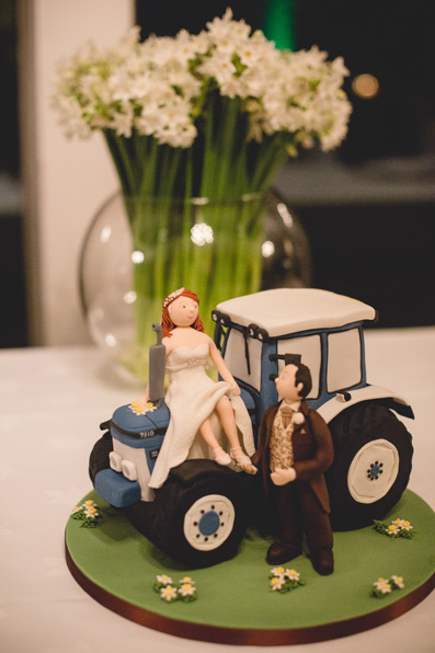 Tractor cake topper | Spring wedding at Rhosygilwen by Whole Picture Weddings