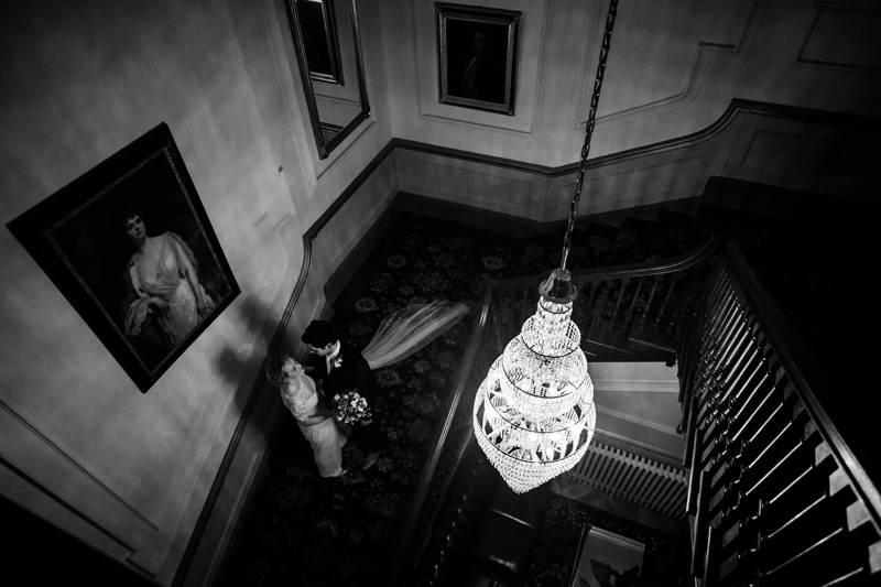 Christmas wedding at Nanteos Mansion by Whole Picture Weddings