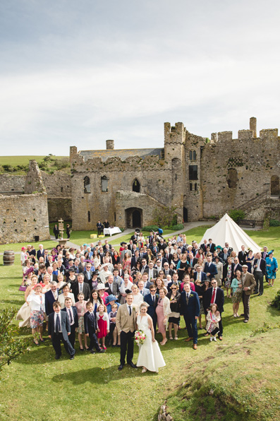 Spring wedding at Manorbier Castle by Whole Picture Weddings